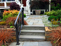 Pennsylvania bluestone entry with squares and rectangles and 4' treads