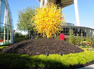 Art and edgy garden design are on display at Chihuly Garden and Glass
