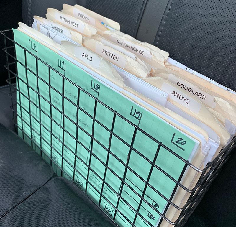 Photo of work folders
