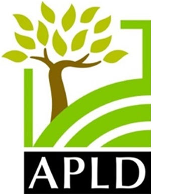 APLD logo graphic of tree on hill