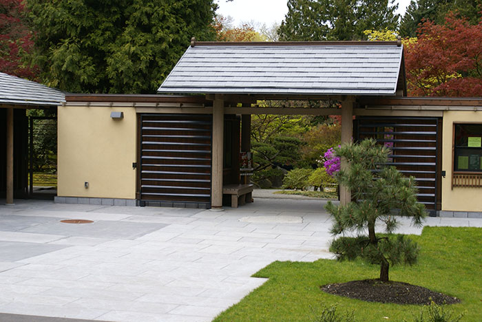 pavilion with cover and paving