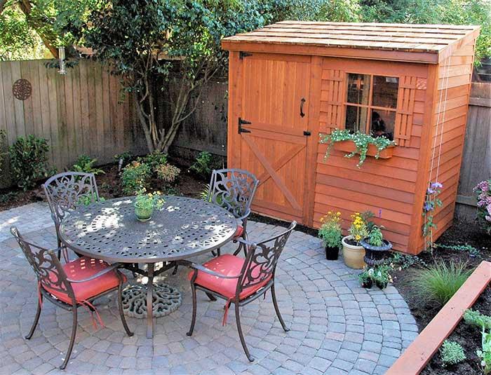 Garden storage, prefab garden shed, garden style