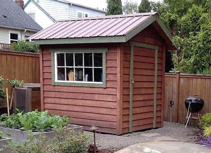 Garden storage, garden shed, salvaged materials