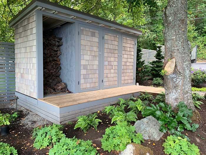 Garden shed, garden storage, firewood storage