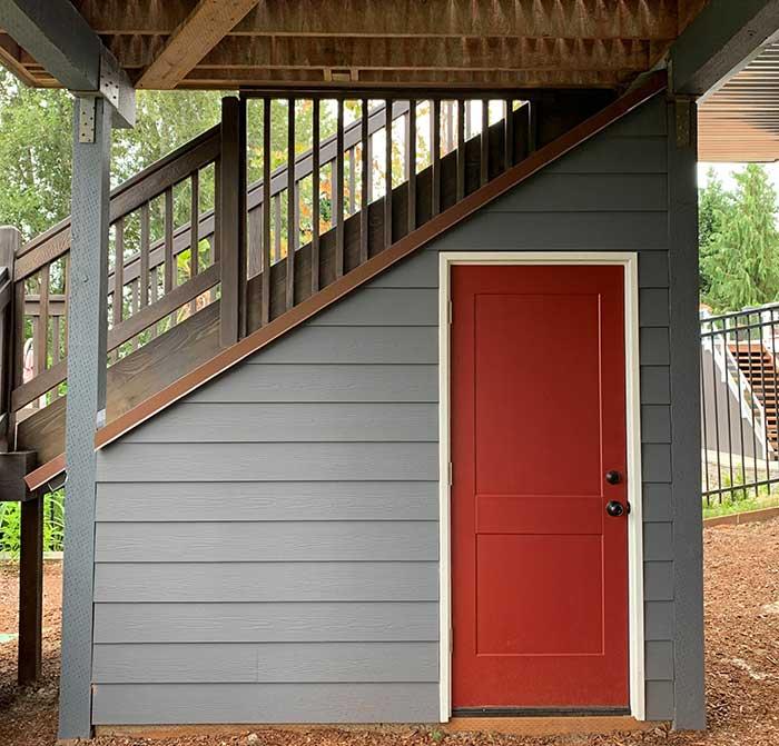 Garden storage, garden shed, under deck storage