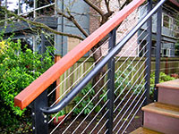 Handrail with ipe wood detail