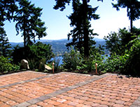View of Lake Washington from the patio